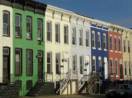 Row Houses by Baltimore Rowhouses On Howard Street The Green One Used T U2026 Flickr