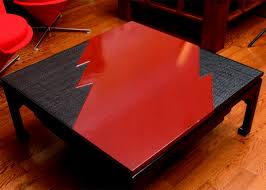 black and red lacquer coffee table naga antiques