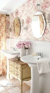 best 25 small vintage bathroom ideas on pinterest small style bathroom ideas for small bathroom makeovers small bathroom makeovers with wainscoting and wallpaper and vintage cabinet between two pede