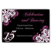 ornamental corner pattern gatefold 15th birthday invitations