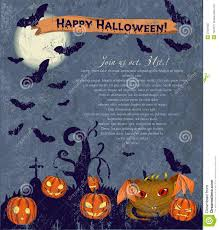 invitation halloween poster with cute monster royalty free stock