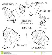 Martinique Map Vector Map Of The French Overseas Regions With Martinique