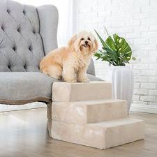zinus 3 step comfort foam pet stairs for small dogs cats ramp
