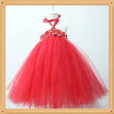 red girls u0027 dresses fluffy long red tutu dress party dress