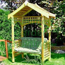 Timber Trellis Wooden Garden Arbour Bench Seat Pressure Treated Timber Trellis