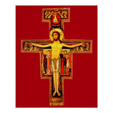 san damiano crucifix the cross of san damiano poster zazzle