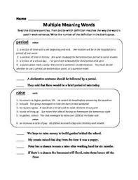 9 best multiple meaning words images on pinterest multiple
