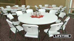 Lifetime Bistro Table Lifetime 72 Commercial Grade Folding Table White Granite