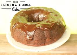 triple chocolate fudge cake recipe chocolate ganache glaze