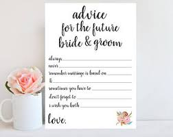 advice to and groom cards advice for to be bridal shower advice cards printable