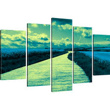 wandbilder 3 teilig bilder landschaft mit fluss wandbilder natur bild auf leinwand ebay
