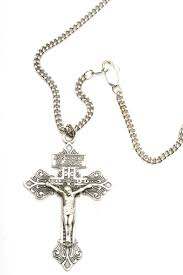 crucifix jewelry large silver pardon crucifix necklace men 0632ss 24s