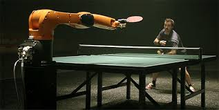 ping pong vs table tennis the duel timo boll vs kuka robot the robo ping pong challenge