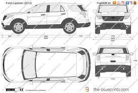 2012 Ford Exploer The Blueprints Com Vector Drawing Ford Explorer