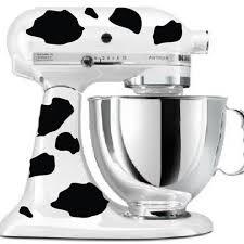 all black kitchenaid mixer kitchenaid mixer cow print sticker decals free shipping f2067 in