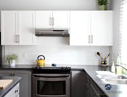gray owl painted kitchen cabinets a budget friendly kitchen update white gray and gorgeous