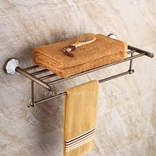 Brushed Nickel Bathroom Shelves Brushed Nickel Ceramic Bathroom Towel Shelves Wall Mounted