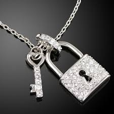 lock key pendant necklace images Michael kors lock and key crystal pendant necklace vita collections jpg