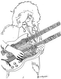 jimmy page coloring page by amandadelonge on deviantart