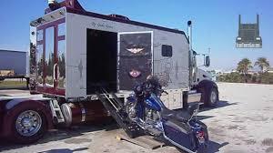 peterbilt trucks custom peterbilt with its own harley davidson garage