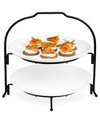 the cellar whiteware 2 tier round coupe buffet server serveware