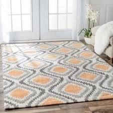 safavieh porcello light grey orange rug 8 u00272 x 11 u0027 rugs