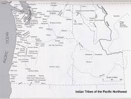 Native American Map Pacific Northwest Coast Tribes Map