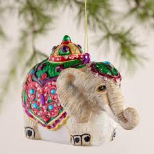 glass camel and elephant ornaments set of 2 world market