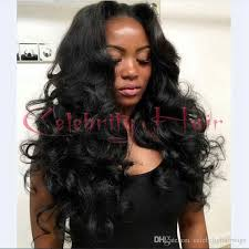 long black hair with part in the middle brown blonde off jet black middle part long body wave synthetic