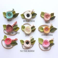felt flower headband instagram post by flower headbands flower and felting