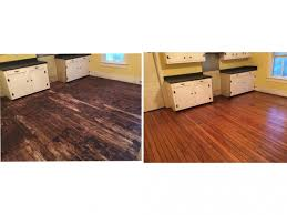 Refinished Hardwood Floors Before And After Pictures by Before And After Floor Restoration