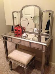 Mirror Vanity Furniture Mirrored Makeup Storage Is A Stylish Way To Unclutter The Vanity