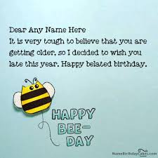 happy belated birthday card with name