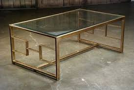bronze geometric frame coffee table mecox gardens