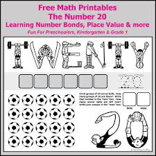 number bonds to 20 free math worksheets number bonds grade 1