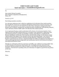 best business analyst cover letter