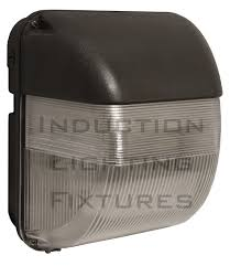 iwhm40 40 watt induction outdoor light fixture prismatic square wall