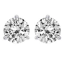 diamond back earrings 1 carat solitaire diamond stud earrings platinum
