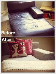 Material For Covering Sofas Kramfors Leather Vs Kramfors Fabric Slipcover Cw