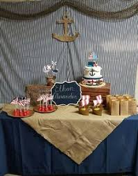 baby shower anchor theme nautical baby shower theme dessert table and backdrop anchor cake