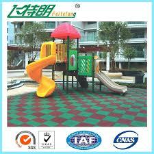 artificial outdoor flooring ideas for playground design