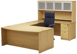 Maple Office Desks Maple Conference U Shaped Workstation With Hutch