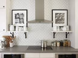 kitchen subway tiles stylish white glass subway tile kitchen