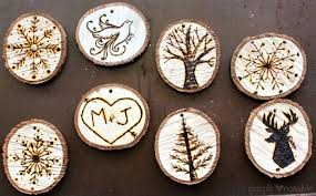 wood burned ornaments simply notable
