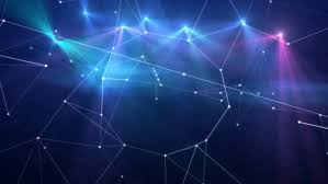 abstract blue shiny triangles background video animation hd