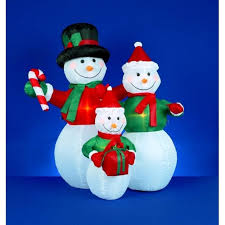 Large Inflatable Christmas Decorations Uk by Premier Decorations Led Inflatable Festive Snowman Family