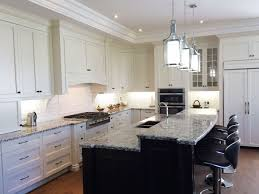 Antiqued White Kitchen Cabinets by Antique White Kitchen Cabinets With Dark Island Homes Design