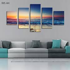 aliexpress com buy 5 piece no frame color wavesmodern home wall