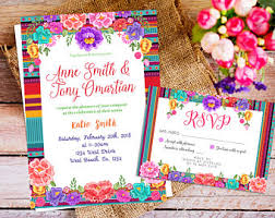 mexican wedding invitations mexican floral invitation mexican invitation bridal