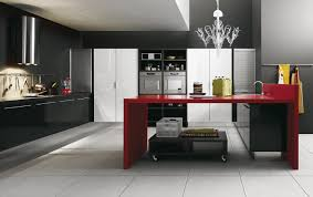 modern black and white kitchen red white and black kitchen ideas outofhome